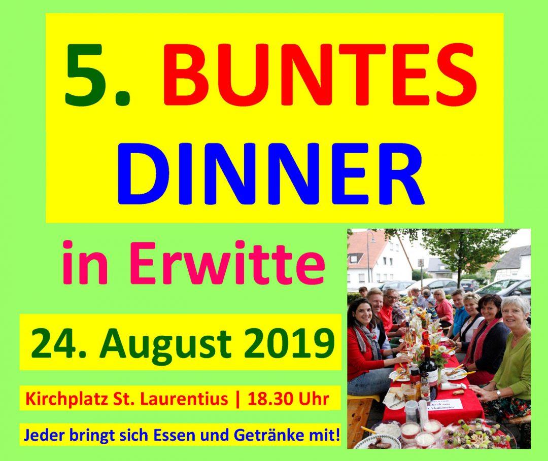 24. August, Buntes Dinner auf dem Kirchplatz von St. Laurentius